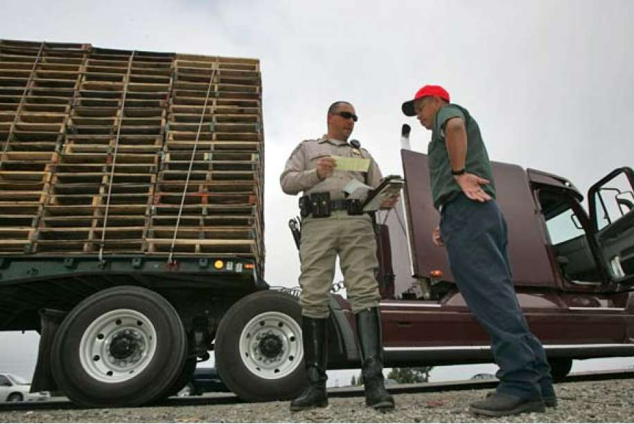 What Happens When a Truck Driver Gets a Ticket in California