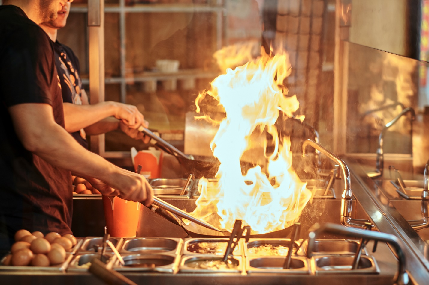 A picture containing person, indoor, cooking, nature  Description automatically generated