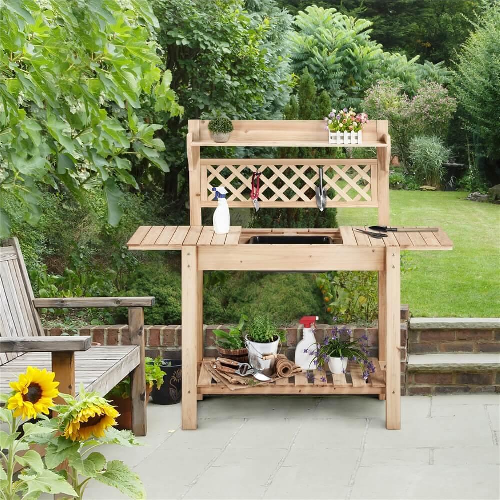 Yaheetech Outdoor Potting Bench